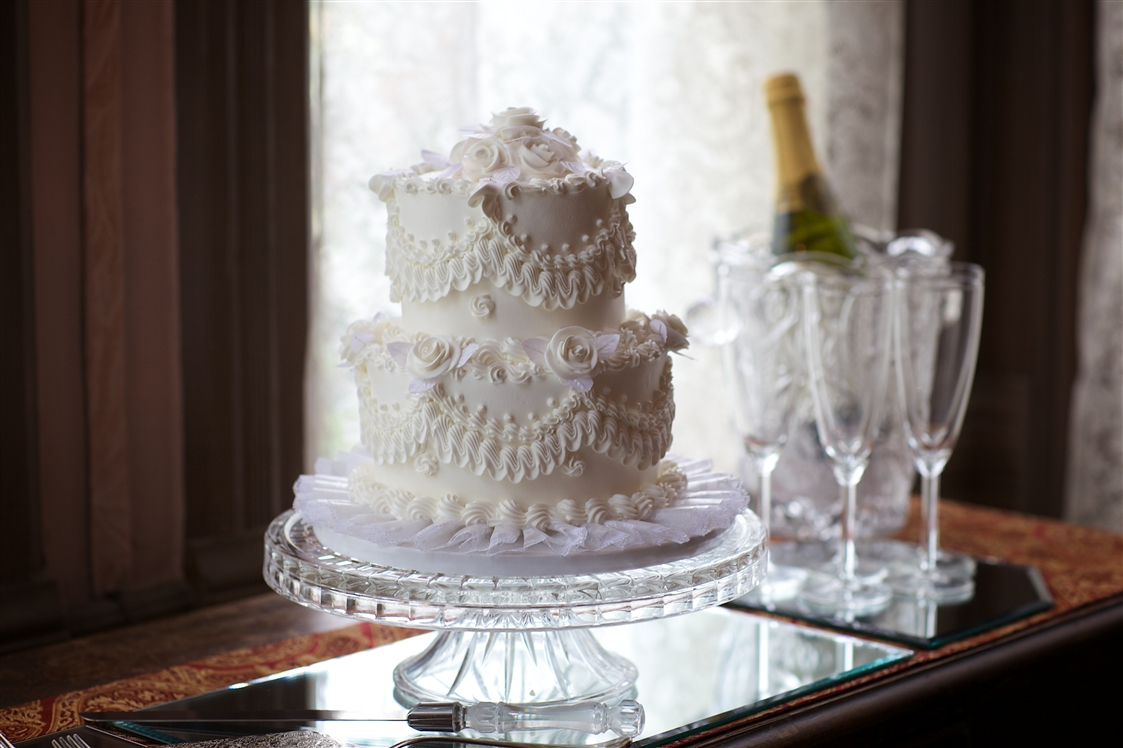 Wedding Cake and Champagne